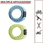 MASTER-LOCK-Lucchetto-Bici-Combinazione-12-m-Cavo-Esterno-Cplore-Casuale-8143EURDPROCOL-Ideale-per-Proteggere-Bicicletta-Skateboard-Passeggino-Falciatore-Attrezzature-Sportive