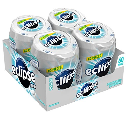 Eclipse Polar Ice Sugarfree Gum, 60 Piece Bottle (4 Bottles)
