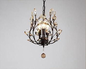 Ramas K9 Crystal Branch Luces de techo, Metal moderno 3heads ...