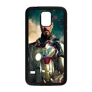 Samsung Galaxy S5 Case Girls Ironman Superhero, Ironman Case For Samsung Galaxy S5 For Women [Black]