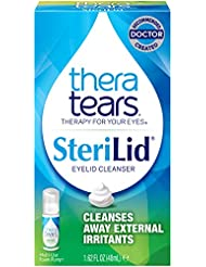 TheraTears Sterilid Eyelid Cleanser, Lid Scrub for Eyes and Eyelashes, 1.62 Fl oz Foam Pump, 48 mL