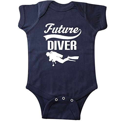 (inktastic - Future Diver Scuba Diving Infant Creeper 6 Months Navy Blue)
