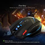 TOMOKO 7200 DPI Gaming Mouse, 7 Buttons, 6 Adjustable DPI, Professional Gaming mice for Laptop Computer Macbook Pro Gamers, Black(Upgrade Version)