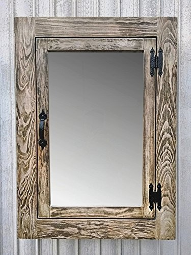 Attrayant Solid Wood Whitewash Rustic Medicine Cabinet / Surface Mount / Handmade
