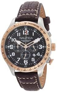 Nautica N16593G - Reloj de pulsera hombre, piel, color marrón