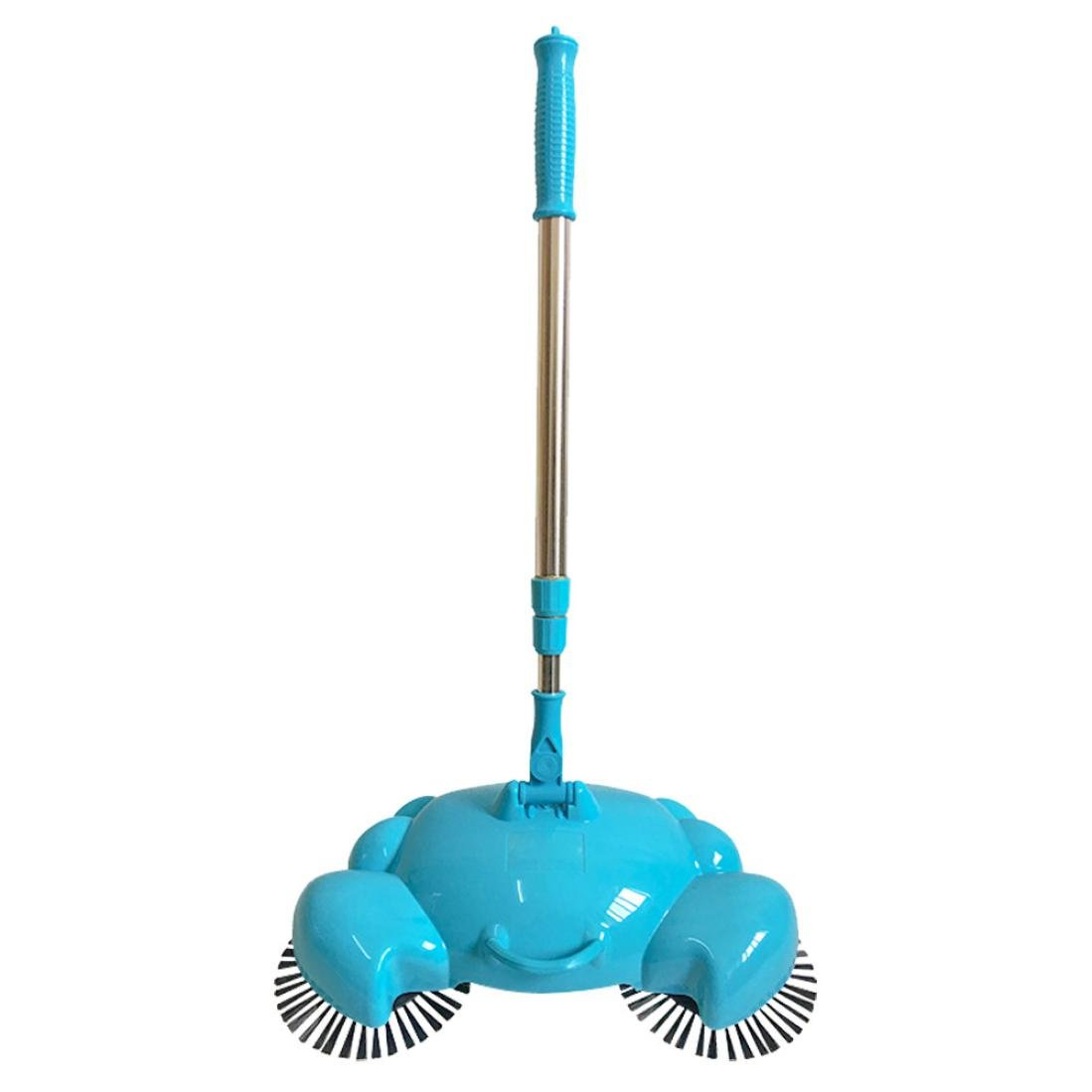 HongXander New Arrival 360 Rotary Home Use Crab Manual Telescopic Floor Dust Sweeper (Blue)