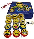 12 pack - Emoji | Emoticon Light-Up YOYOs, variety of faces and impressions, Ultimate idea for Party Favors / Birthday Giveaways