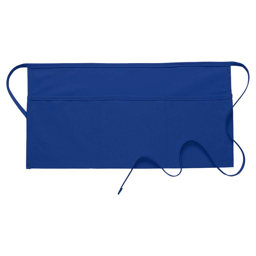 DayStar Apparel 100 Three Pocket Waist Apron (12 Pack), Royal by DayStar Apparel