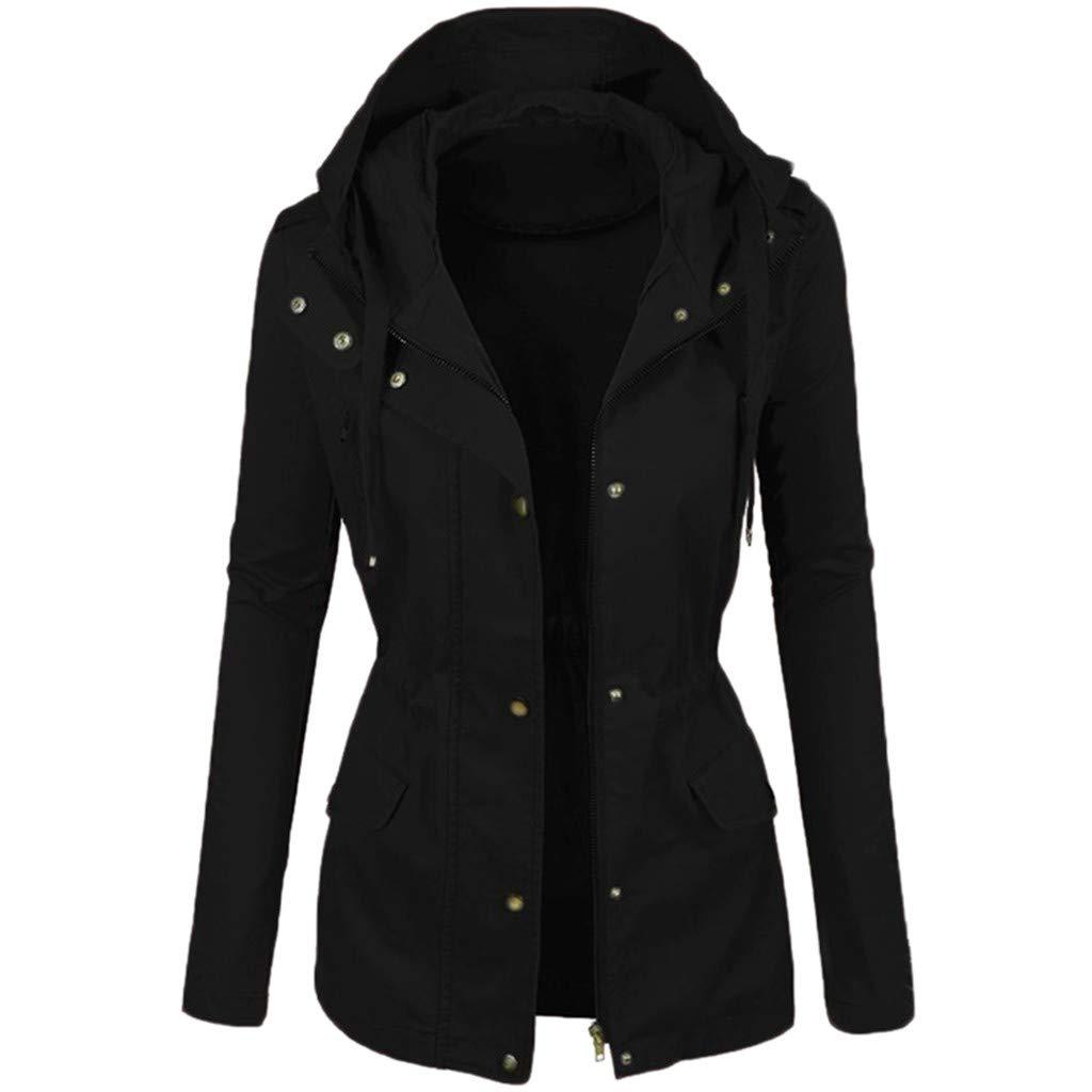 JESPER Womens Lightweight Hooded Raincoat Fashion Windbreaker Waterproof Active Outdoor Rain Jacket