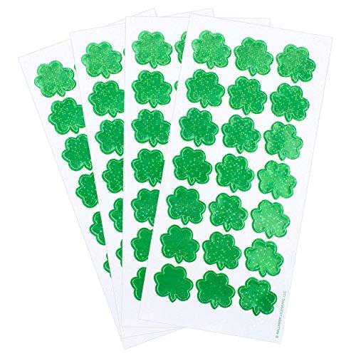 Hallmark Irish-Themed Stickers 84 Count (Sparklebrite Shamrocks)