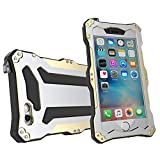 iPhone SE case,iphone 5s case Feitenn Water resistant Rain Proof Shockproof Dust Proof Armor Aluminum Metal bumper Gorilla Glass Military Heavy Protection Case for Iphone 5S SE (Gold)