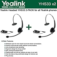 Yealink YHS33 2-PACK Wideband Headset for Yealink IP Phones, plug and play