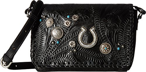 American West Women's Lariat Love Crossbody Bag/Wallet Black One Size by American West