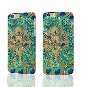 Fashion Personalized Fashion Peacock Feather Print Cool Photo Plastic Hard Customized Personalized 3D Case For iPhone 6 Plus - 5.5 inches