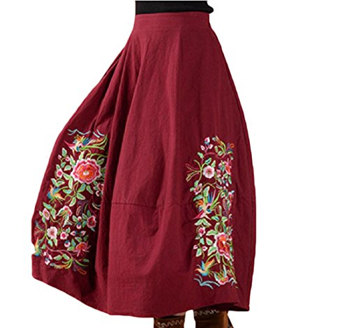 Womens Embroidered Skirt Set - 9
