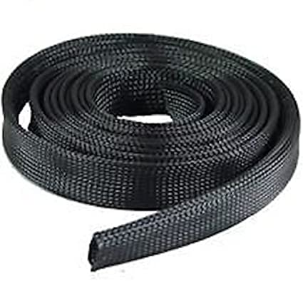 """50 Feet 3//8/"""" Expandable Wire Cable Sleeving Sheathing Braided Loom Tubing Black"""