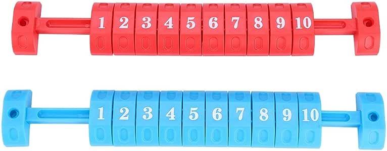 Dioche Unidades de Puntuación de Futbolín, 2pcs / Set Fútbol de Mesa 10 Números Puntuación Puntaje Indicador Contador(Rojo y Azul): Amazon.es: Deportes y aire libre