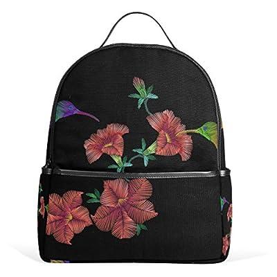 cbcf5462f2 high-quality JSTEL Hummingbird Rose Flower School Backpack 4th 5th 6th Grade  for Boys Girls