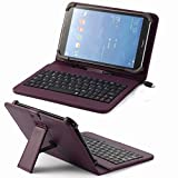 Universal Pu Leather Folding Folio Case Cover with Keyboard (8kpp) for Digiland Dl701q Dl700d 7 Inch / Digiland Dl801w 8 Inch / Excelvan Et704 7