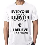 Raw T-Shirt's I Believe I Will Go Fishing - Funny Fisshing Premium Men's T-Shirt