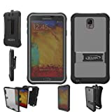 Bolkin Defender Series Hybrid Armor Case Cover & Holster for Samsung Galaxy Note 3 (grey)