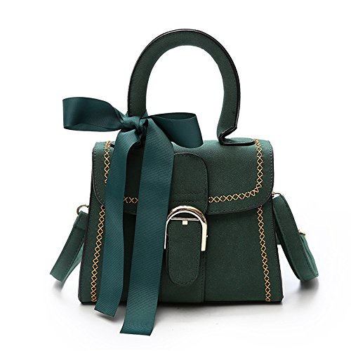 Shoulder Wild Black Messenger Bag Bag Female Scarf Bag Green Meaeo Bow New Scarlet qgyXCX