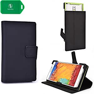 BLACK UNIVERSAL SMARTPHONE CASE FITS Sony Xperia Z1s WITH KICKSTAND OPTION