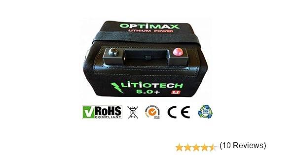 Optimax Batería Litio Carro de Golf 12v 18ah con Cargador: Amazon ...