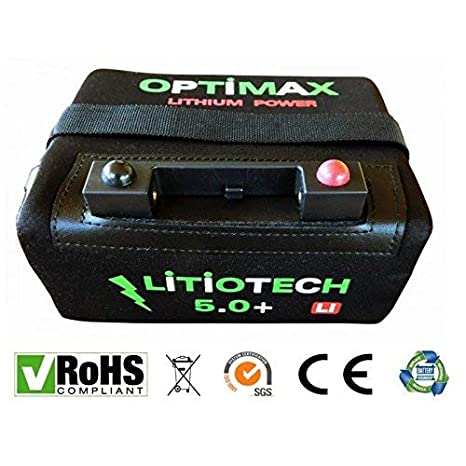 Optimax Batería Litio Carro de Golf 12v 18ah con Cargador