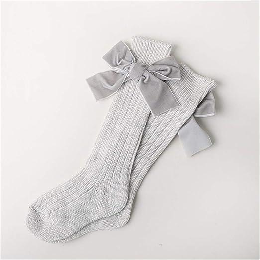 LiuQ Bebé Calcetines Niñas de algodón Calcetines con Arcos de ...