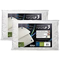 Kit 2 Peças Travesseiro Nasa Up 3 para Fronhas 50X70, Fibrasca, Revestimento 100% Poliéster, Branco
