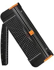 flintronic Cortadora de Papel A4, Guillotina de Papel con Automático de Seguridad Salvaguardar, Corte de Rejilla y Ángulo,para Cupón Craft Etiqueta de Papel o Foto(Negro, 38cm)