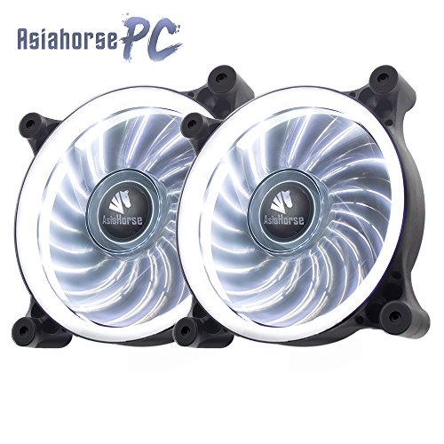 - Asiahorse Solar Eclipse-Ultra Quiet Bearing 120mm DC Led Fan for Computer Cases, Long Life CPU Coolers 2PACK
