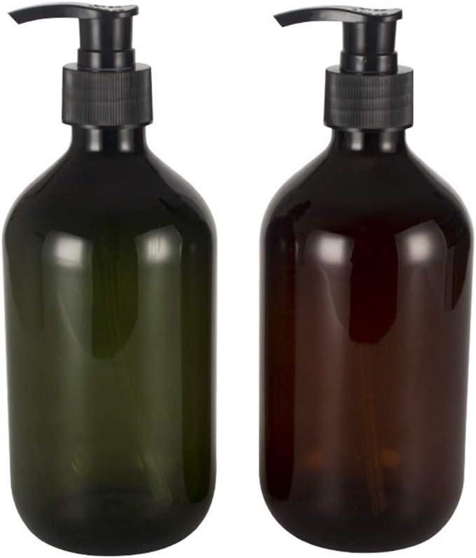 shuxuanltd Botes Viaje Avion Botes Viaje Dosificador Jabon Ba/ño Dispensador Jabon Ba/ño para La Familia Y El Viaje Maquillaje De La Botella De La Bomba Botella De Bomba A Prueba De Fugas Brown,500ml