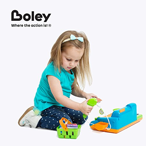 51h7g4mz0uL - Boley Kids Toy Cash Register - Pretend Play Educational Toy Cash Register With Electronic Sounds, Play Money, Grocery Toy and More!