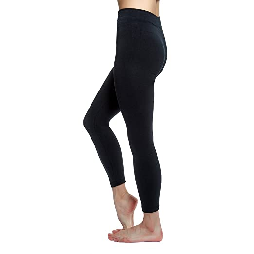 ea1948a19512d Love Charm Women's Seamless Fleece Lined Basic Leggings, Black at Amazon  Women's Clothing store: