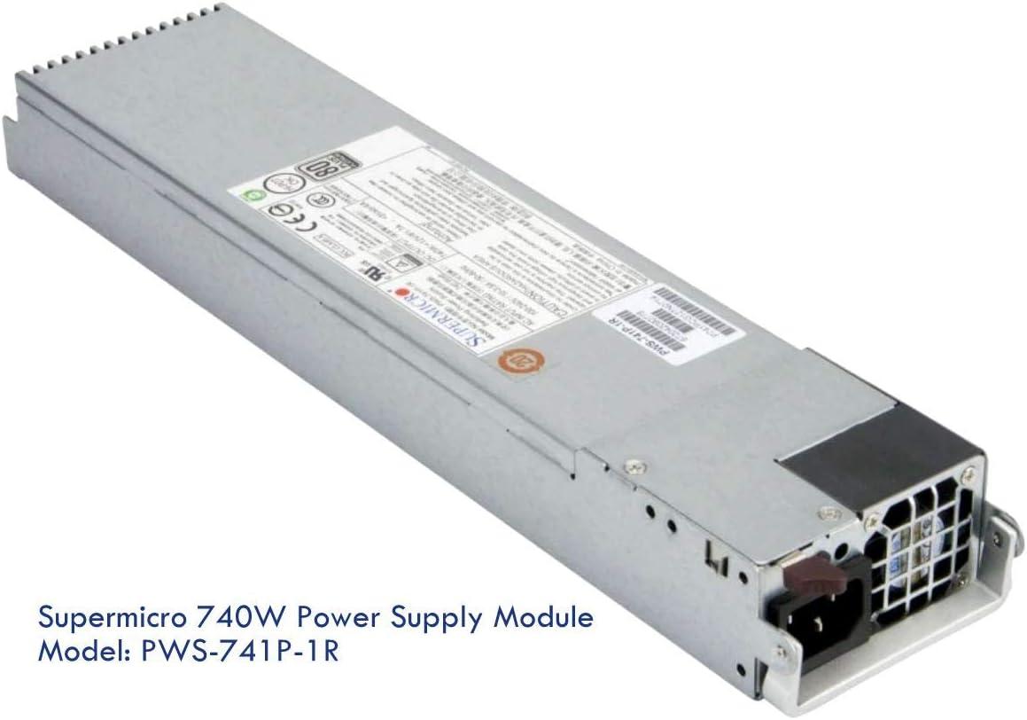 Supermicro PWS-741P-1R 740W 1U PLATINUM REDUNDANT SINGLE OUTPUT