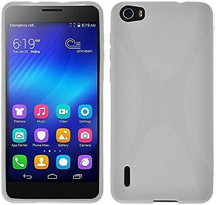 Tumundosmartphone Funda Gel TPU X-Line Blanca para Huawei Honor 6 ...