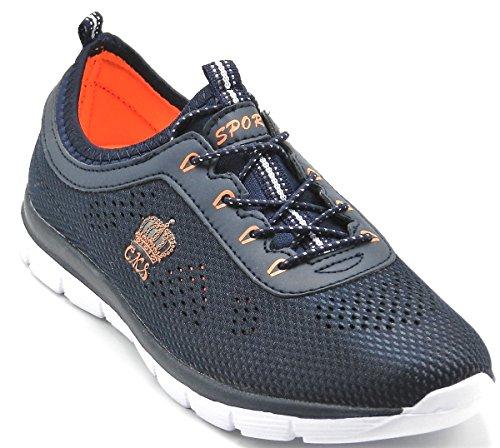 Entraînement De Tennis De Dev De Femmes Légères Mesh Sport Chaussures De Course Navy-2801