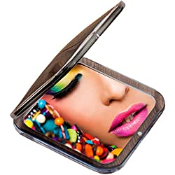 Miss Sweet Compact Mirror for Purse Pocket Mirror True image&10X magnification (Black)