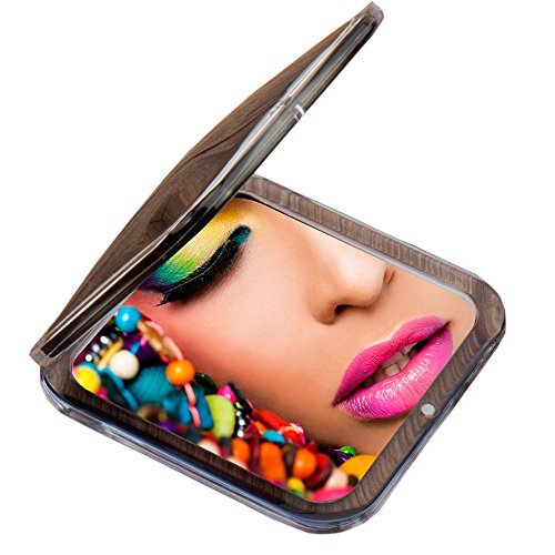 Magnification Purse Mirror (Miss Sweet Compact Mirror for Purse Pocket Mirror True image&10X magnification (Black))