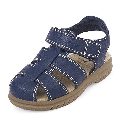 The Children's Place Boys' TB Fisherman Nov Flat Sandal, Navy, TDDLR 8 Medium US Big Kid by The Children's Place (Image #1)'