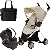 Quinny Zapp Xtra Folding Seat Stroller Travel System with Diaper Bag - Natural Mavis