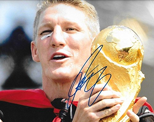 8x10 Munich Photo (Autographed Bastian Schweinsteiger Photograph - Germany World Cup Trophy 8x10 - Autographed Soccer Photos)