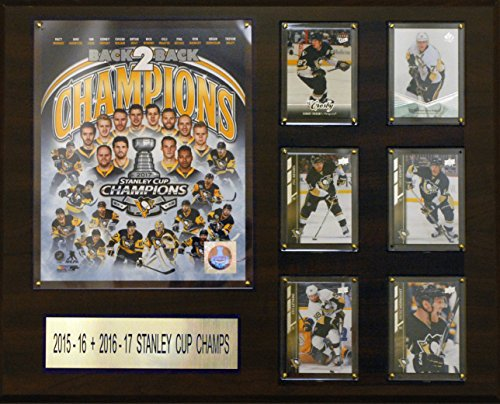 (C&I Collectables NHL Pittsburgh Penguins Men's 2016-2017 Stanley Cup Champions Plaque, Brown, 16
