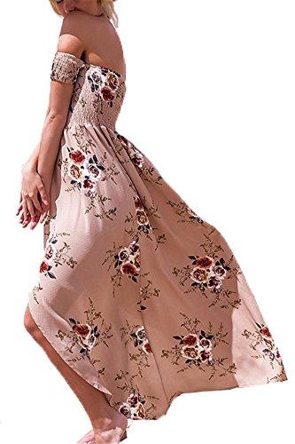 Elgante Soie Longues de de Party Robe de Fleurs Sexy Femmes Robe Impression soire Mousseline Robe Crmonie de Robe Plge B8FnTvW