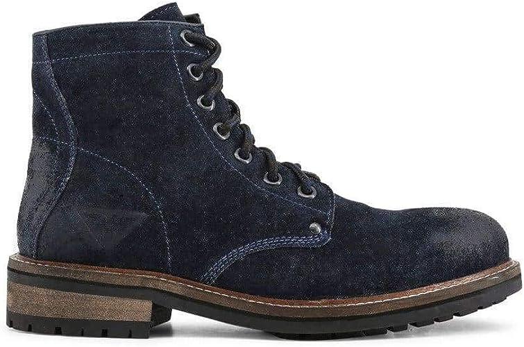 Docksteps Chelsea-Boots Mens Suede Blue