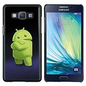 TECHCASE---Cubierta de la caja de protección para la piel dura ** Samsung Galaxy A5 ( A5000 ) 2014 Version ** --Smartphone extranjero verde