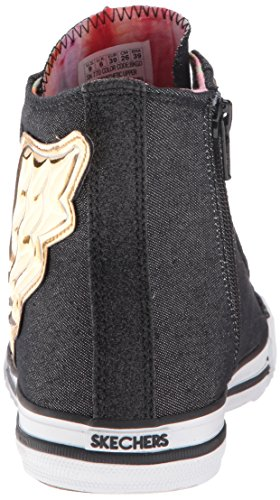 Skecher Street Utop�a de la Mujer Wing It Zapatillas de Moda, Negro / Oro