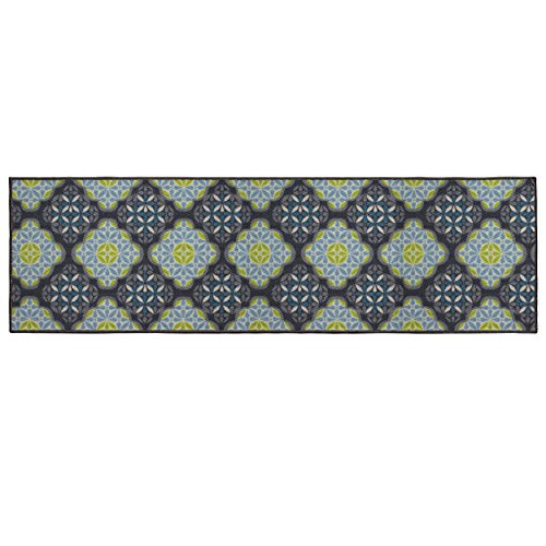 Structures Olivia Textured Printed Accent Rug, Blue/Green 20 x 60